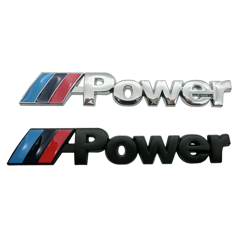 Black Badge Emblem Sticker Car Rear Trunk Metal Decal For BMW //////M-Power