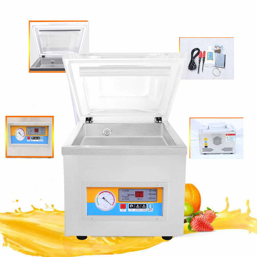 Food Vacuum Sealer Packing Machine Vaccum Chamber Aluminum Bags Fish Meat Rice Tea Sealing Machine Air Sucking Free Shipping