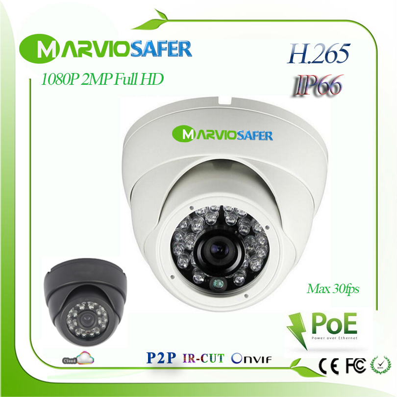 H.265 / H.264 1080 2MP Full HD Outdoor Dome Network IP Camera POE webcam ip cam home security system Video camara Onvif h 265 h 264 2mp 1080p 2 megapixel full hd ipcam dome ir night vision network ip cctv camera camara ip poe optional onvif rtsp
