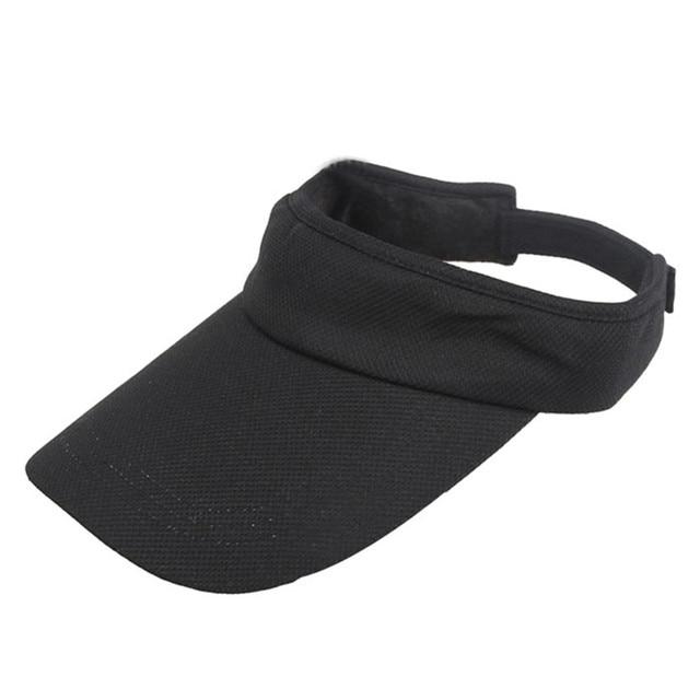 Sport cap Women Adjustable Visor Sun Plain Hat Sports Cap Colors Golf Tennis  Beach Hat 300327 e8d76014778c
