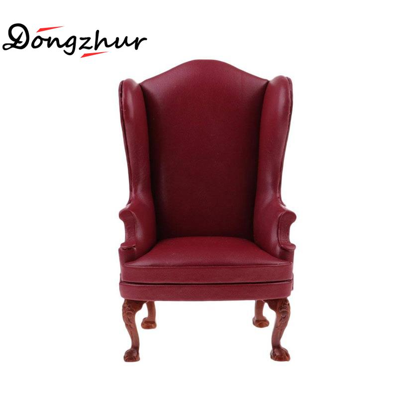 High Quality Model Toys Miniature Furniture Leather Single / Double Sofa Delicate For 1:6 Doll House Accessories Children Toys fine bjd 1 6 doll miniature furniture seat sofa high quality classical