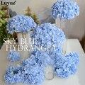 Luyue 20 шт. Свадебные Украшения Цветок Гортензии Heads15cm Искусственный DIY Шелковый Искусственные Свадебные Цветы Аксессуары Оптом