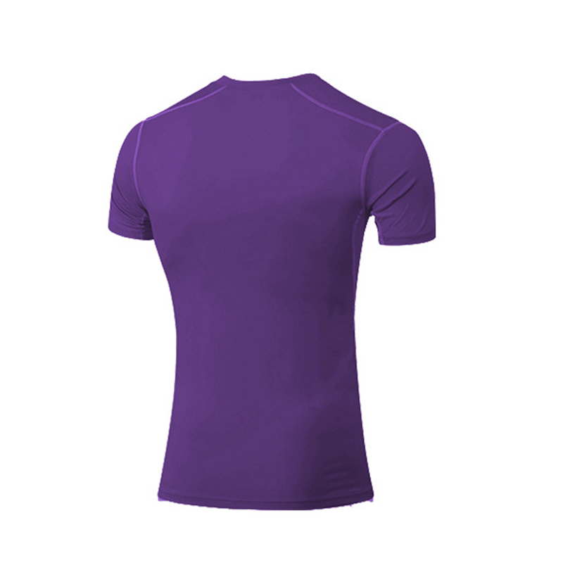Summer Autumn Men Tight Shirt Short Sleeve Elastic Quick Dry Fitness Tops Slim Body Building Gym Sportswear Man T-shirts S-3XL