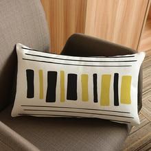 Simple Music Plant Stripe Style Waist Cushion Throw Pillows Home Decorative sofa Love Chair Cojines almofada 30x50cm