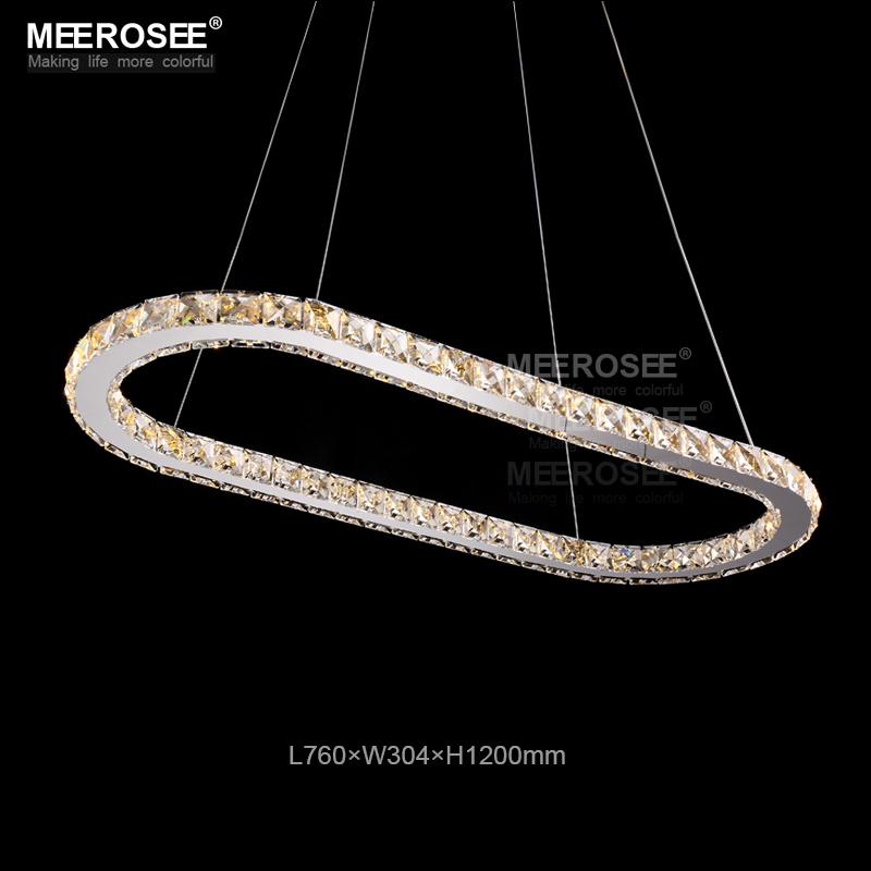 Hot sale Oval LED Crystal Pendant Light Fixture LED Crystal Light lustre de teto LED Hanging