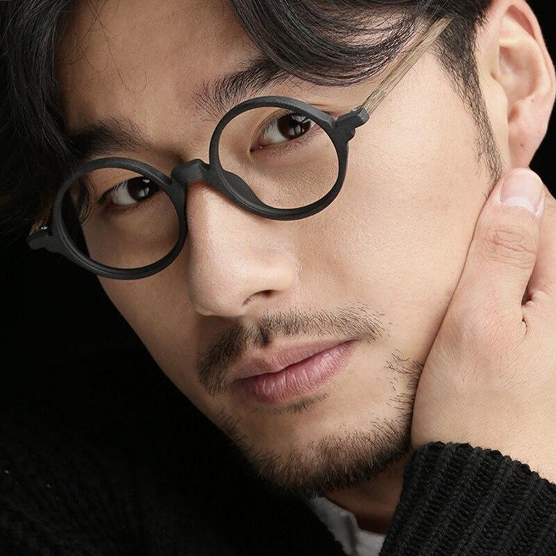 Johnny Depp Glasses Round Japan Eyeglasses Men Women Computer Optical Glasses Frame Vintage Acetate Frame Brand Design S304