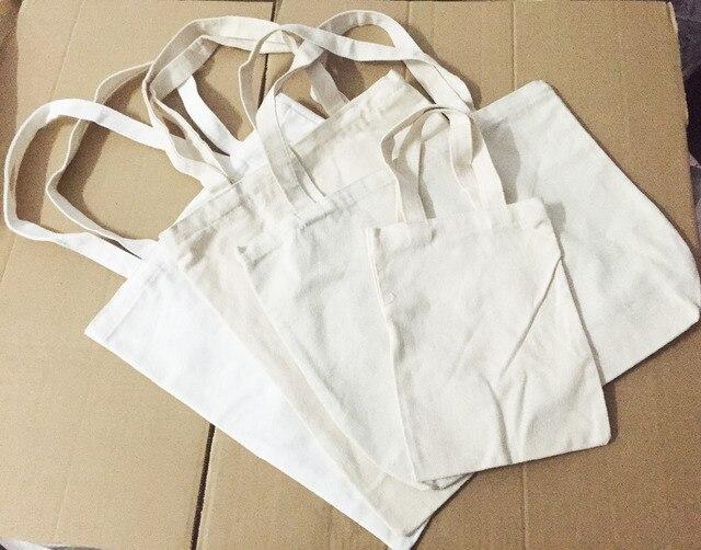 b4b6c567d4a 500pcs lot W30xH30xBottom10cm custom Print Company Logo 100% Cotton Canvas Shopping  Bag Foldable Reusable
