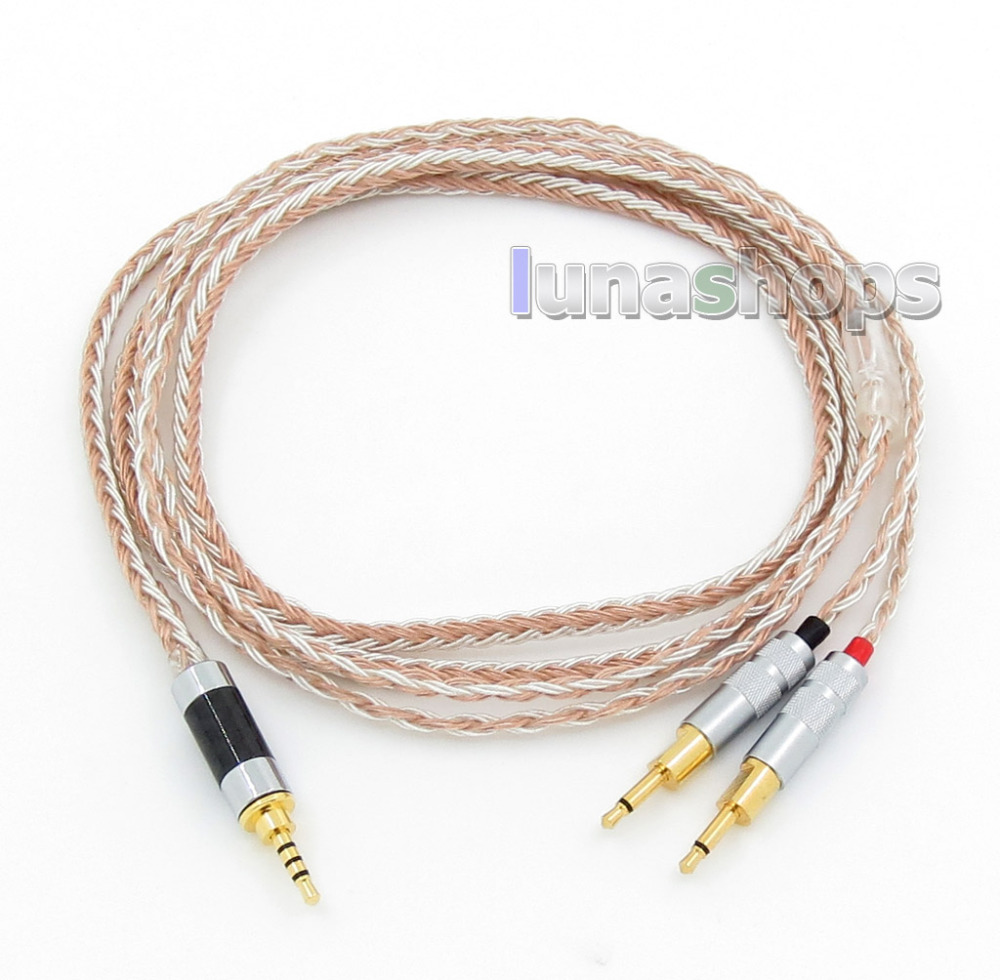 2.5mm 4pole TRRS Balanced 16 Core OCC Silver Mixed Headphone Cable For Sennheiser HD700 LN005788 800 wires soft silver occ alloy teflo aft earphone cable for ultimate ears ue tf10 sf3 sf5 5eb 5pro triplefi 15vm ln005407