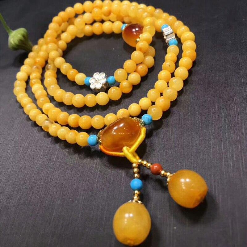 Оптовая продажа JoursNeige желтый натуральная руда браслеты из камней бусины с подвеска в форме шарика Ручной струны женский подарочный Шарм браслет ювелирные изделия - 3