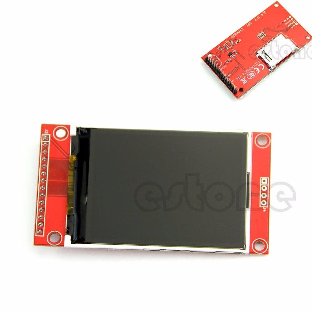 2 4 240x320 SPI TFT LCD Serial Port Module PBC Adapter Micro SD ILI9341 5V 3