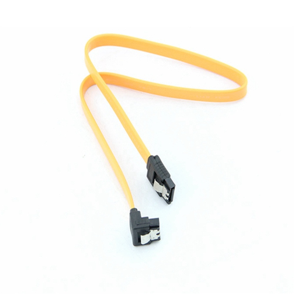New Arrival Right Angle SATA Cable  45CM SATA 3.0 III SATA3 6Gb / S SSD Hard Drive Data Direct / Right Angle Cable L1017#5*