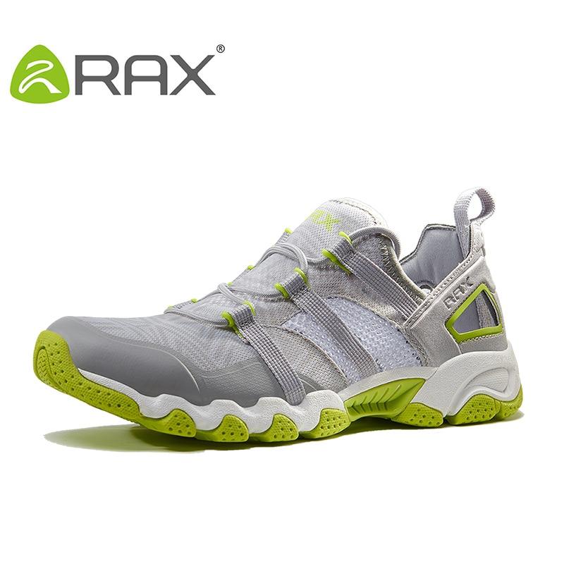 RAX Men Trekking Shoes Breathable Hiking Shoes For Men Outdoor Light Sports Shoes Quick Dry Aqua Climbing Walking Shoes rax original waterproof hiking shoes for men trekking shoes suede leather men mountain shoes outdoor climbing walking shoes