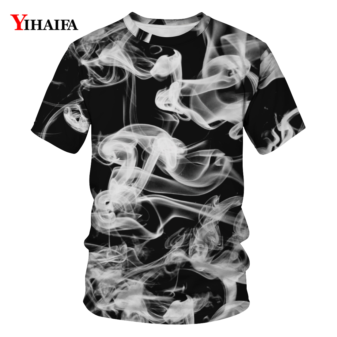 2019 Men Women Fashion 3D T shirt Creative Foggy Graphic T shirts Casual Short Sleeve Hip Hop Tees Unisex Tops in T Shirts from Men 39 s Clothing
