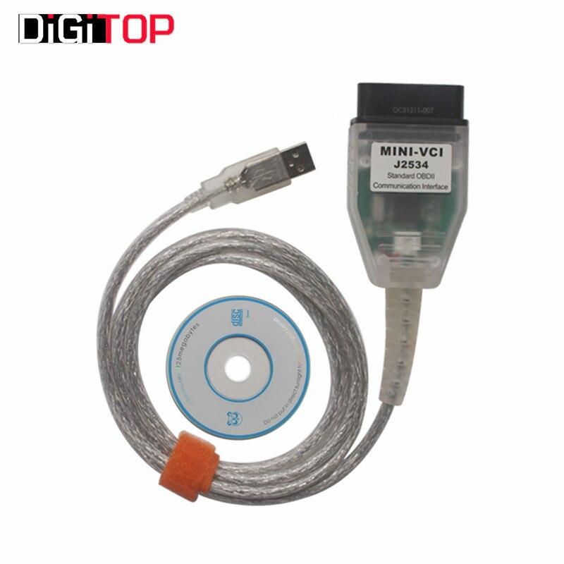 Prix pour Pas cher MINI VCI V10.30.029 Unique Câble pour Toyota TIS Techstream MINI VCI Câble OBD2 Outil De Diagnostic MINI VCI 16Pin Câble