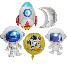 Космический космический астронавт воздушный шар Робот мультфильм воздушный шар с днем рождения украшение гелий земля ракета ребенок душ дети