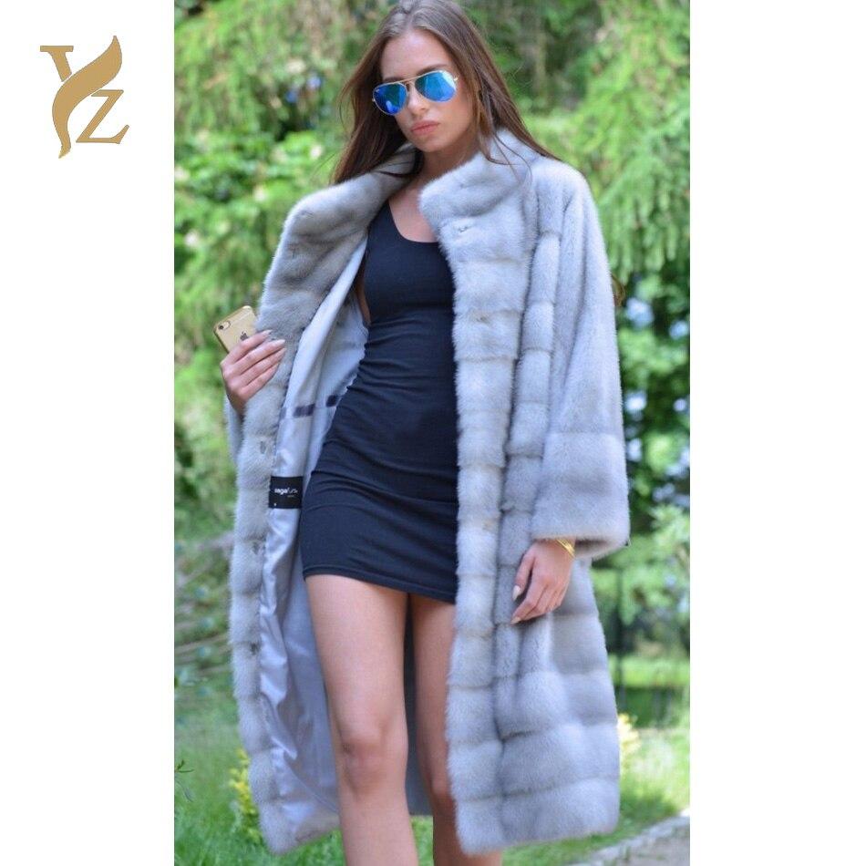 Réel Tops Azur 2018 Femmes Longue Wholeskin Fille D'hiver De Fourrure Veste Vison Chaud Pour As Manteaux Couleur Jeune Vêtements Picture rxdoCBe