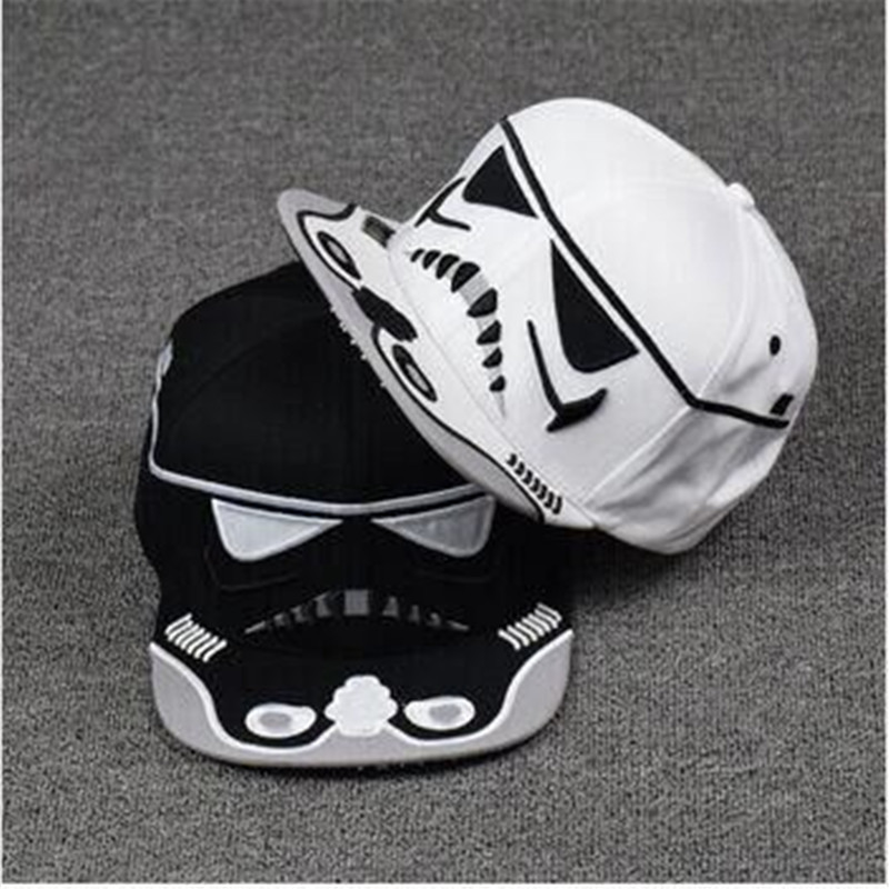 New 2016 Fashion Cotton Brand Star Wars Snapback Caps Cool Strapback Letter Baseball Cap Bboy Hip-hop Hats For Men Women 2016 feammal new rose floral embroidered casquette polos baseball caps cotton strapback black pink rose for women sport cap
