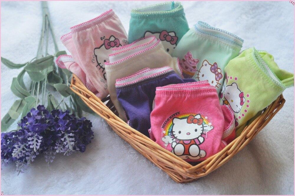 12pcs/lot Gils Underwear Panties Girls Brief Hello Kitty Kity Children Pants Kids Pants Wholesale Cotton Underwear Cartoon2