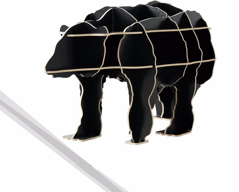 Бесплатная доставка 100% дерево деревянный скандинавский стиль украшения дома diy белый медведь diy мебель, столикel Ресторан декора