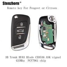 Stenzhorn 3Buttons Remote Key For CITROEN C1 2 3 4 5 Berlingo Picasso For PEUGEOT 207 208 307 2005-2011 ASK signal PCF7961