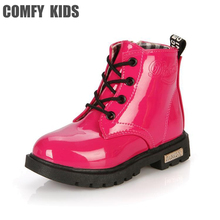 Artificial PU Leather Top Selling Child Boots Shoes for boys girls snow boots waterproof autumn winter comfy kids snow boots