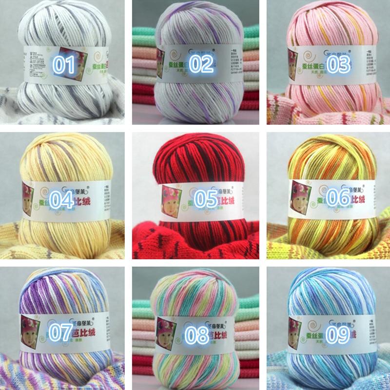 500 g lot (50g ball) DIY Lait Coton Fil Bébé Fil De Laine pour Tricoter  Enfants Tricotés À La Main fil Tricot Couverture Fil Crochet Fil 8b3a3190b25