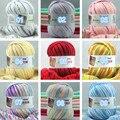500 g/lote (50g/ball) diy fio de algodão leite do bebê crianças mão de malha de fios de lã para confecção de malhas fio fio de crochê de fios de malha cobertor