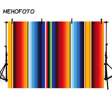 Vinyl Photography Background Mexican Blanket Stripes Cinco De Mayo Party Decor Food Restaurant Menu Backdrop Photocall