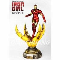 Статуя Мстители 1:6 женский вариант Железный человек бюст Утюг девушка Айронхарт Встроенный 5000 мАч Power Bank светодиодные Ограниченная серия
