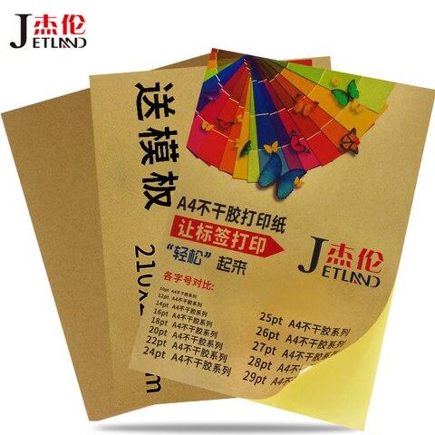 a4 folha de etiquetas kraft papel auto adesivo