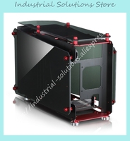 ITX Chassis MOD1 MINI Supports ITX Motherboard Aluminum Box 5 0MM Thickness Toughened Glass