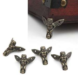 Corner-Protector Angel-Gift-Box 4pcs Decor Furniture Wood-Case Drop-Ship Bronze Antique