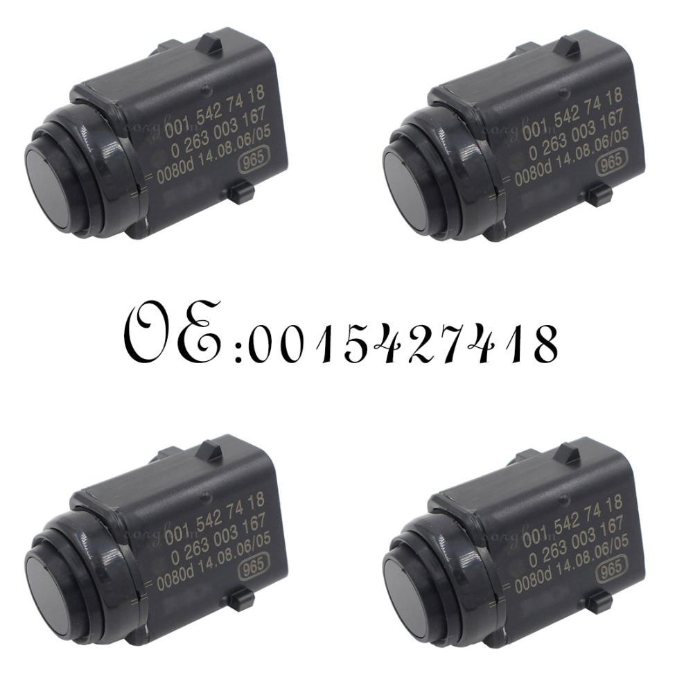 4PCS PDC Parking Distance Sensor 0015427418 For Mercedes-Benz W203 W209 W210 W211 W220 W163