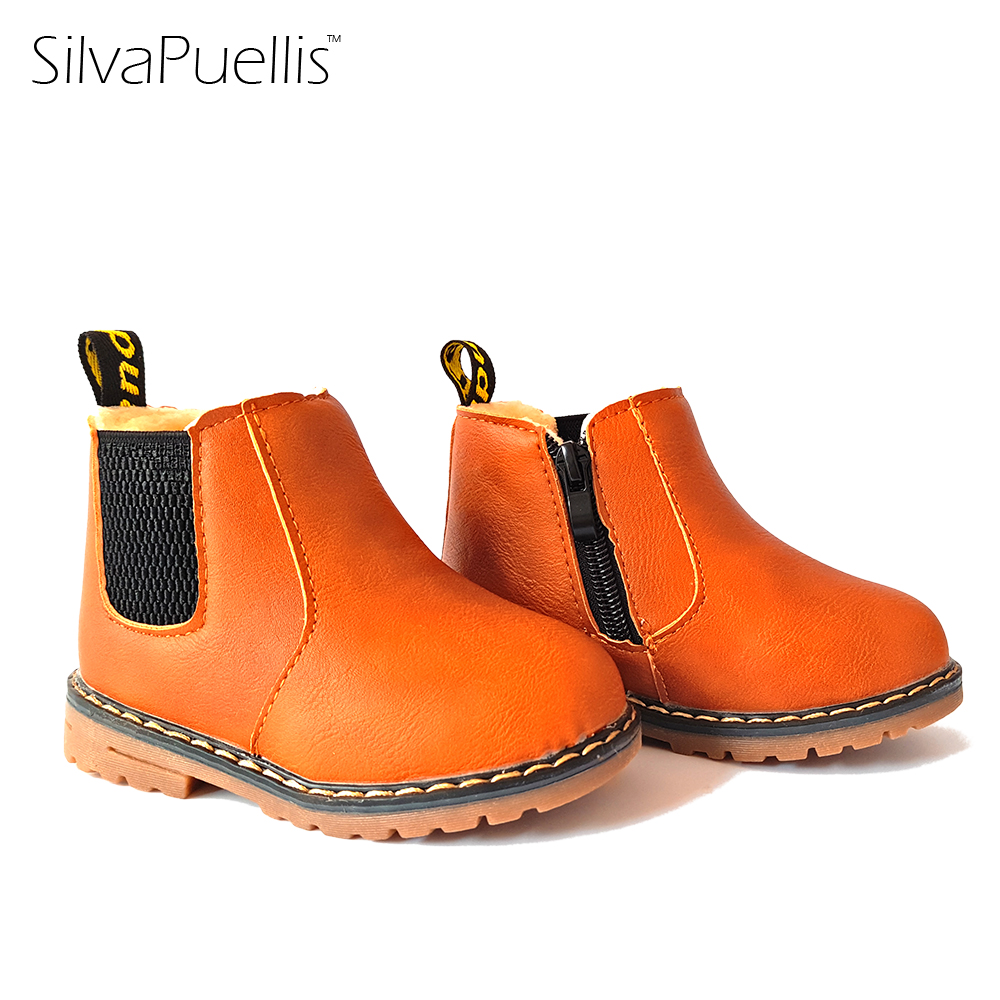 SilvaPuellis Children's Shoes 2017 New Boys And Girls Children Boots Winter British Retro Boots Children's Fashion Casual Boots 2014 new autumn and winter children s shoes ankle boots leather single boots bow princess boys and girls shoes y 451