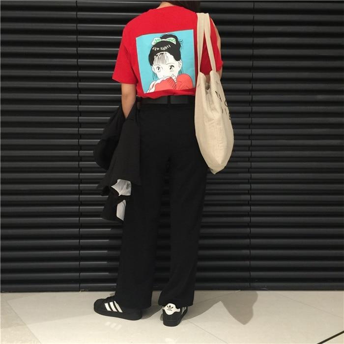 Κορεατική κόκκινη κοπέλα τυπωμένη - Γυναικείος ρουχισμός - Φωτογραφία 4