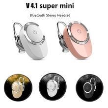 Super Mini stereo bluetooth headset wireless V4.1 bluetooth handfree earphone headphones for iphone Samsung all phone
