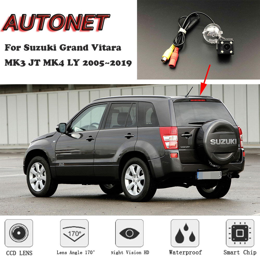 AUTONET Backup Rear View Camera For Suzuki Grand Vitara MK3 JT MK4 LY 2005~2019 Night Vision/license Plate Camera/parking Camera