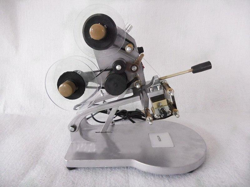 Machine de marquage de Date manuelle imprimante d'étiquettes Machine de codage thermique directe encodeur de ruban DY-8 avec caractères