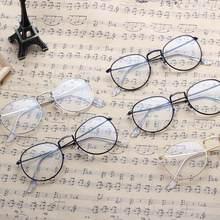 9a55bbb467 New Brand Men Women Vintage Plain Glasses Full Metal Frame Round Spectacles  Stylish Style Unisex Classic Lightweight Eyeglasses