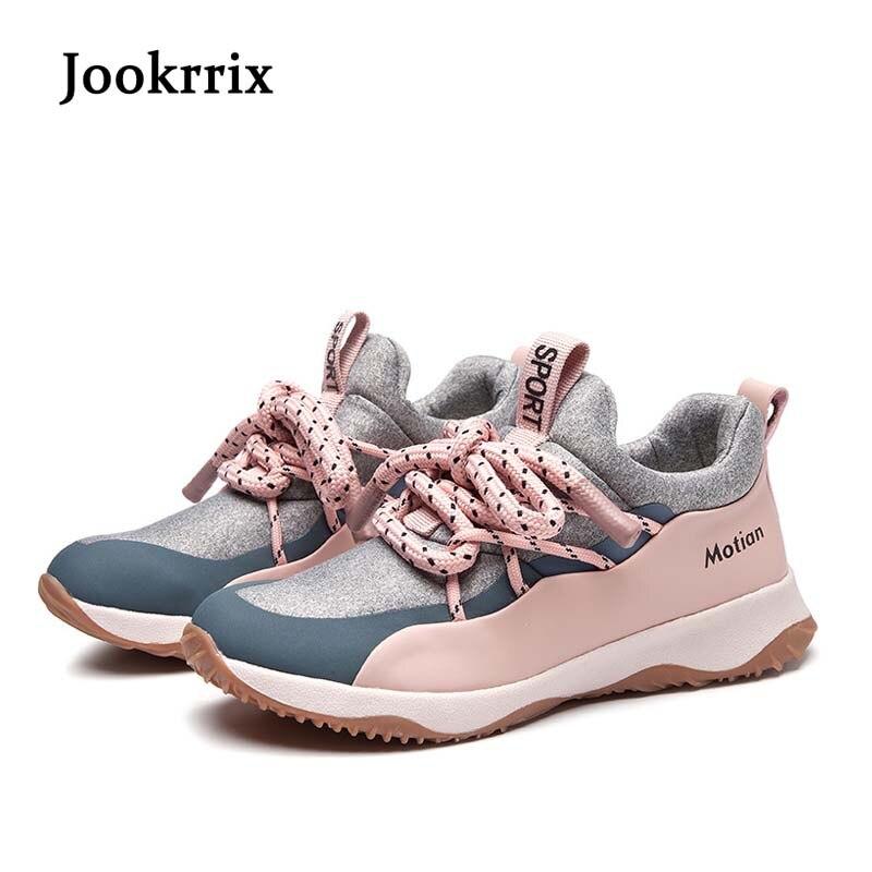Ayakk.'ten Vulkanize Kadın Ayakkabıları'de Jookrrix 2019 Bahar Moda Marka Bayan Siyah günlük ayakkabı Kadın sneaker Kız Örgü Vulkanize Ayakkabı Çapraz bağlı Nefes'da  Grup 1