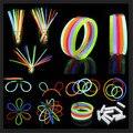 100 шт светящиеся палочки Браслеты ожерелья неоновые цвета вечеринки сувениры диско рейв