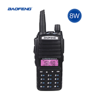 "baofeng uv Band Dual 8W ווקי UV-82 Baofeng 10 ק""מ טוקי FM במקלט נייד / VHF 128CH רדיו CB Ham UHF UV 82 שני הדרך רדיו 2800mAh (2)"