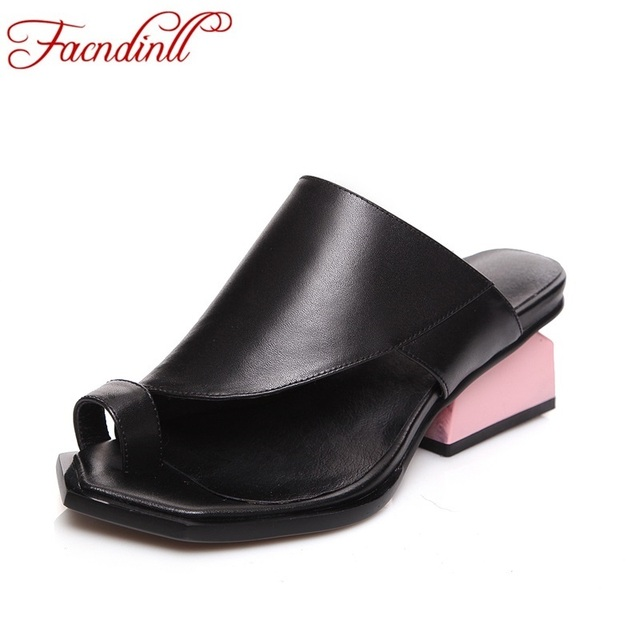 brand summer shoes women sandals fashion women slippers casual dress shoes sexy high heels ladies beach shoes leather flip flop