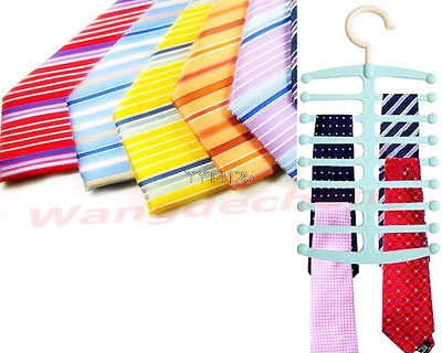 New Closet Organizer Nonslip Necktie Belts Tie Rack Shawl Scarf Holder Hanger Mar