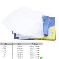 100PCS/lot hot pouch laminator film A4(310X220mm) size 55mic photo documents PET laminator film