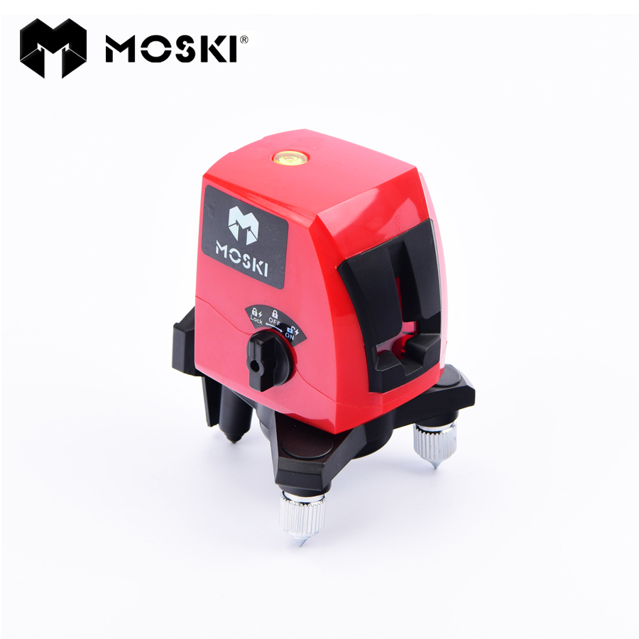 MOSKI ,2017 New model laser level, red 2 lines ,red ray laser level , red ray level