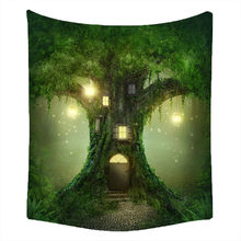 Wishing Trees 3D Print Tapestry Wall Hanging Psychedelic Decorative Wall Carpet Bed Sheet Bohemian Hippie Home Decor Couch Throw(China)