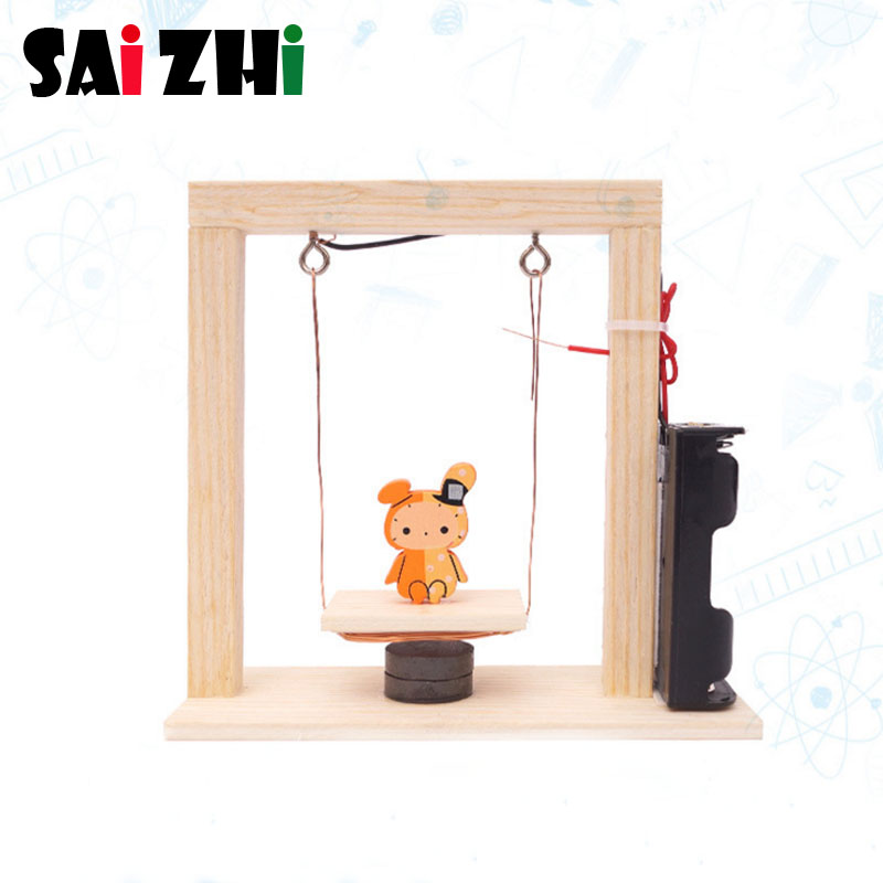 Home Candid Saizhi Diy Electromagnetic Swing Developing Intellectual Stem Toy Science Experiment Kit Kids Lab Set Birthday Gift Sz3351 To Invigorate Health Effectively