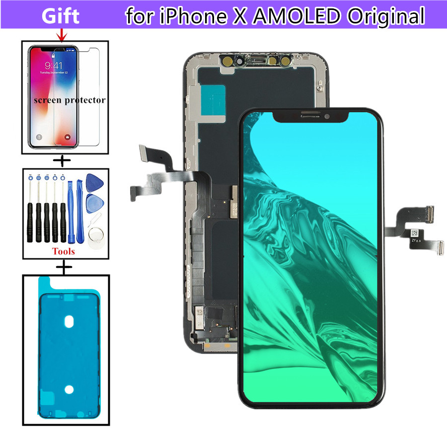 premium selection 1491e eb708 Replacement Parts Display for iPhone X LCD Digitizer Touch Lens Screen  Assembly with Frame, AMOLED New Original