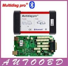 Бесплатная доставка Новый Сингл Зеленый ПЕЧАТНОЙ Платы Multidiag Pro + С Bluetooth OBDII Обслуживание диагностический инструмент с несколькими функциями